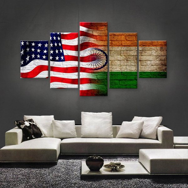 HD PRINTED LIMITED EDITION 5 PIECE AMERICAN-NIGERIAN (NIGERIA) CANVAS