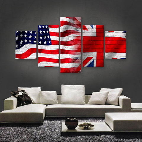 HD PRINTED LIMITED EDITION AMERICAN-BRITISH CANVAS - NEW DESIGN