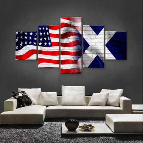 HD PRINTED LIMITED EDITION AMERICAN - SCOTTISH  5 PIECE CANVAS
