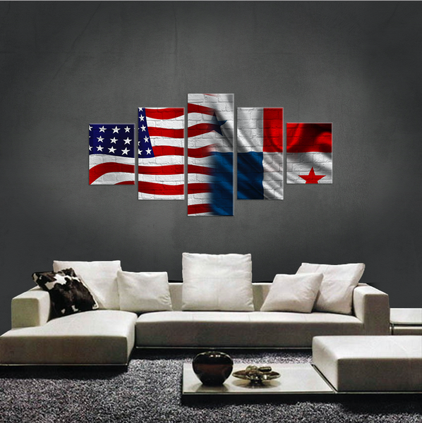 USA AND PANAMA CANVAS
