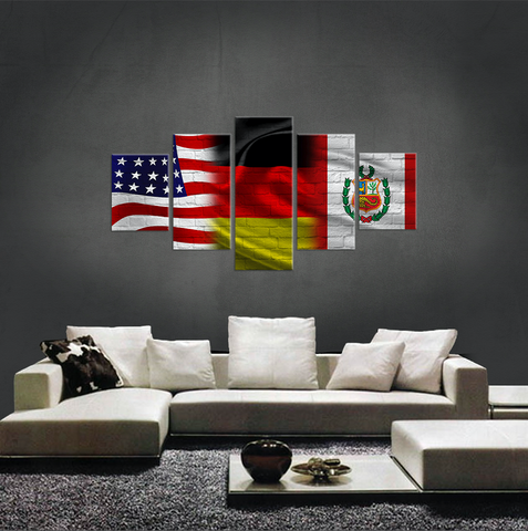 USA, GERMANY, PERU CANVAS