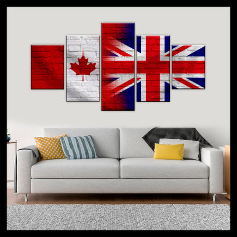 HD PRINTED LIMITED EDITION CANADIAN - BRITISH (UNITED KINGDOM) CANVAS