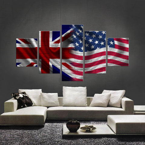 HD PRINTED LIMITED EDITION NEW BRITISH AMERICAN CANVAS