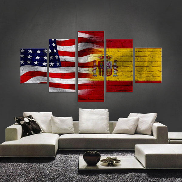HD PRINTED LIMITED EDITION 5 PIECE AMERICAN - SPANISH (SPAIN) CANVAS  - NEW DESIGN