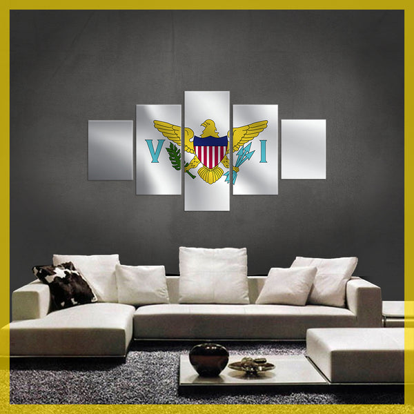 HD PRINTED LIMITED EDITION 5 PIECE US Virgin Islands Canvas Image CANVAS