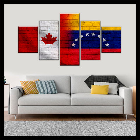 HD PRINTED LIMITED EDITION CANADIAN - VENEZUELAN (VENEZUELA) CANVAS
