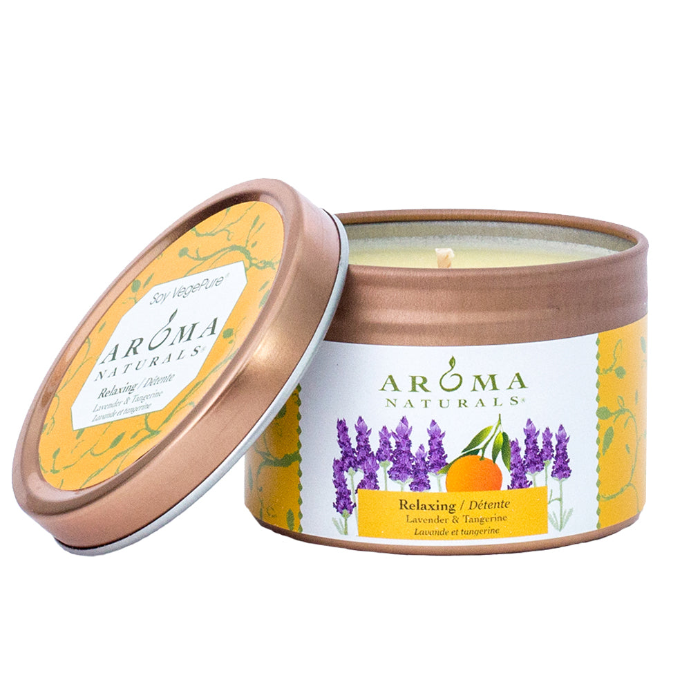 Aroma Naturals Relaxing Lavender Tangerine Soy Candle