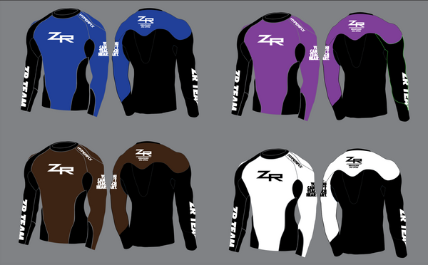 2019 Color Belt ZR Rash Guard - USA