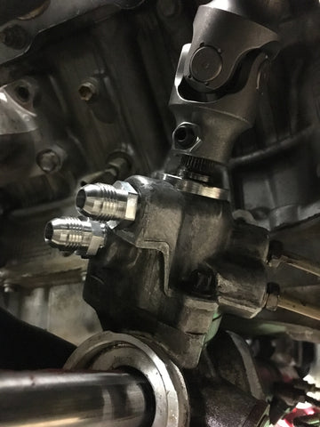 Power steering rack AN fittings