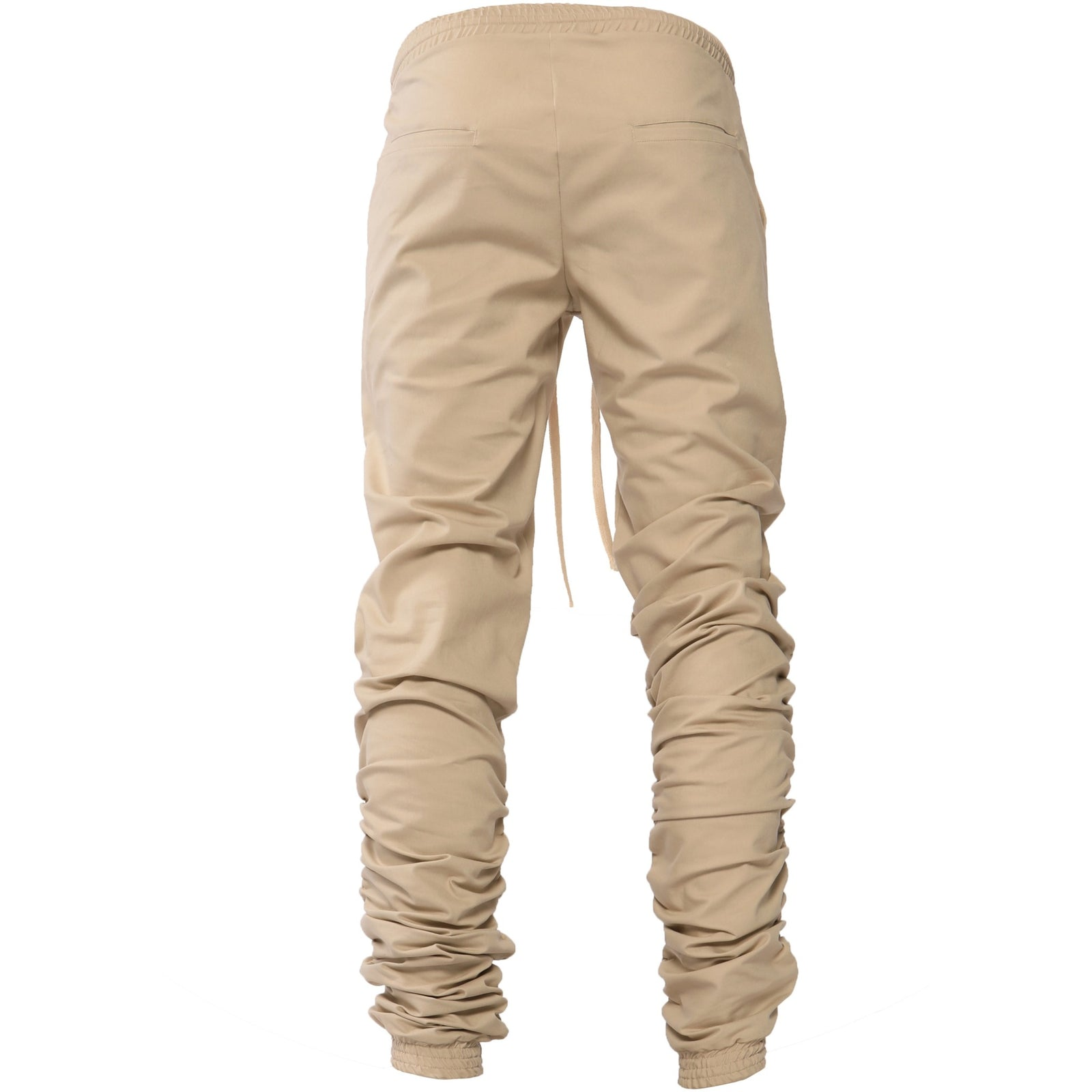 "AA/S-13 Ruffle Leg Joggers-Tan - AILIP ""Anything In Life Is Possible"""