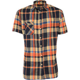 AA/S-3 Casual Orange Brushed Flannel Button-Down - AILIP