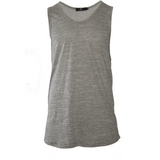 AA/S-11 Elongated Tank Tops-Grey - AILIP