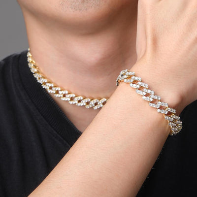 Lock Clasp Lab Diamond Cuban Bracelet