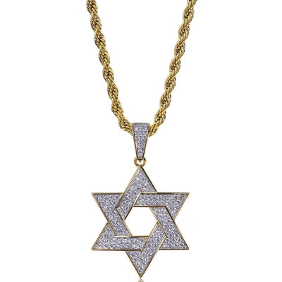 Micro Pave Star Of David Pendant Necklace