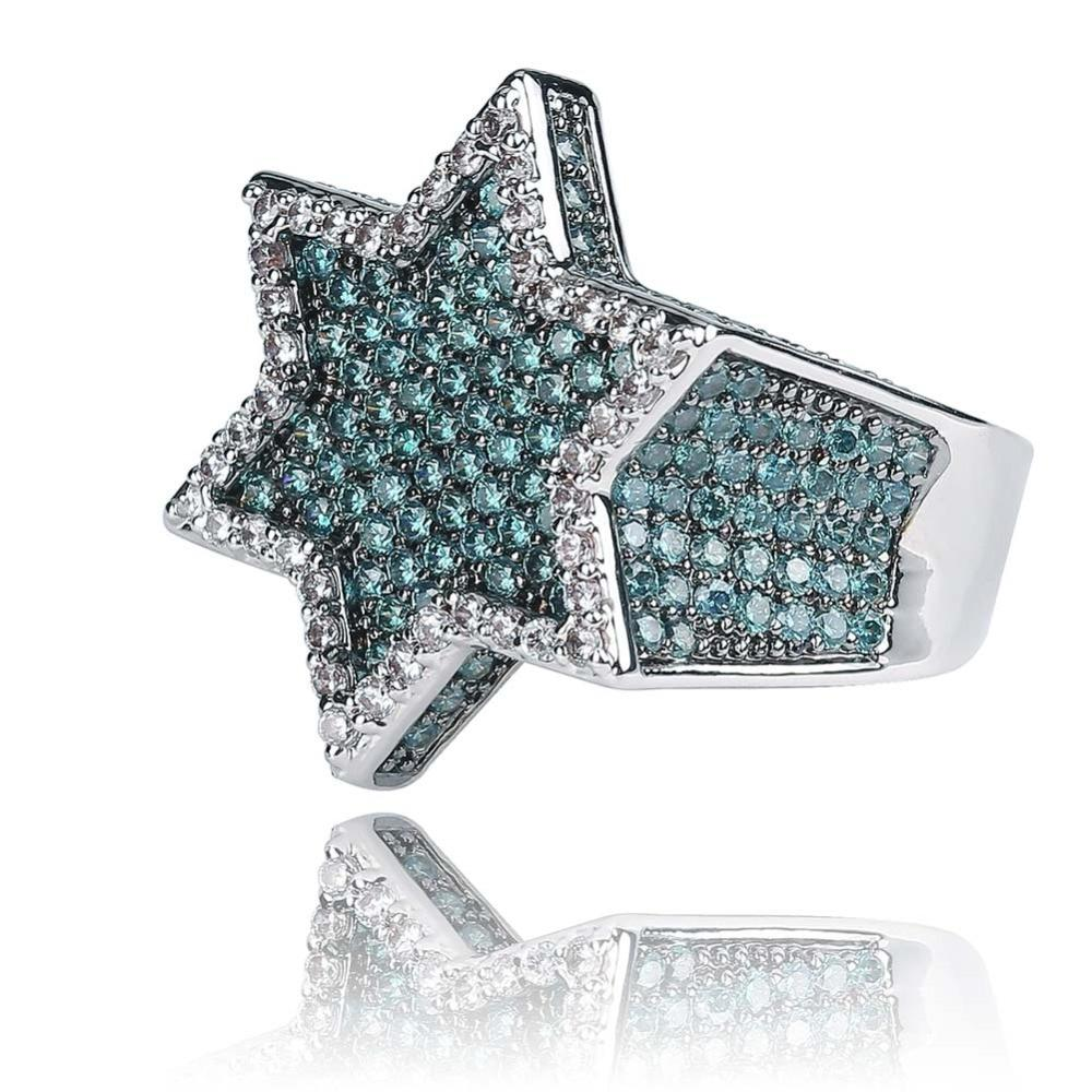 Lab Diamond Hexagon Ring