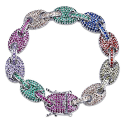 12MM Rainbow Lab Diamond Bracelet