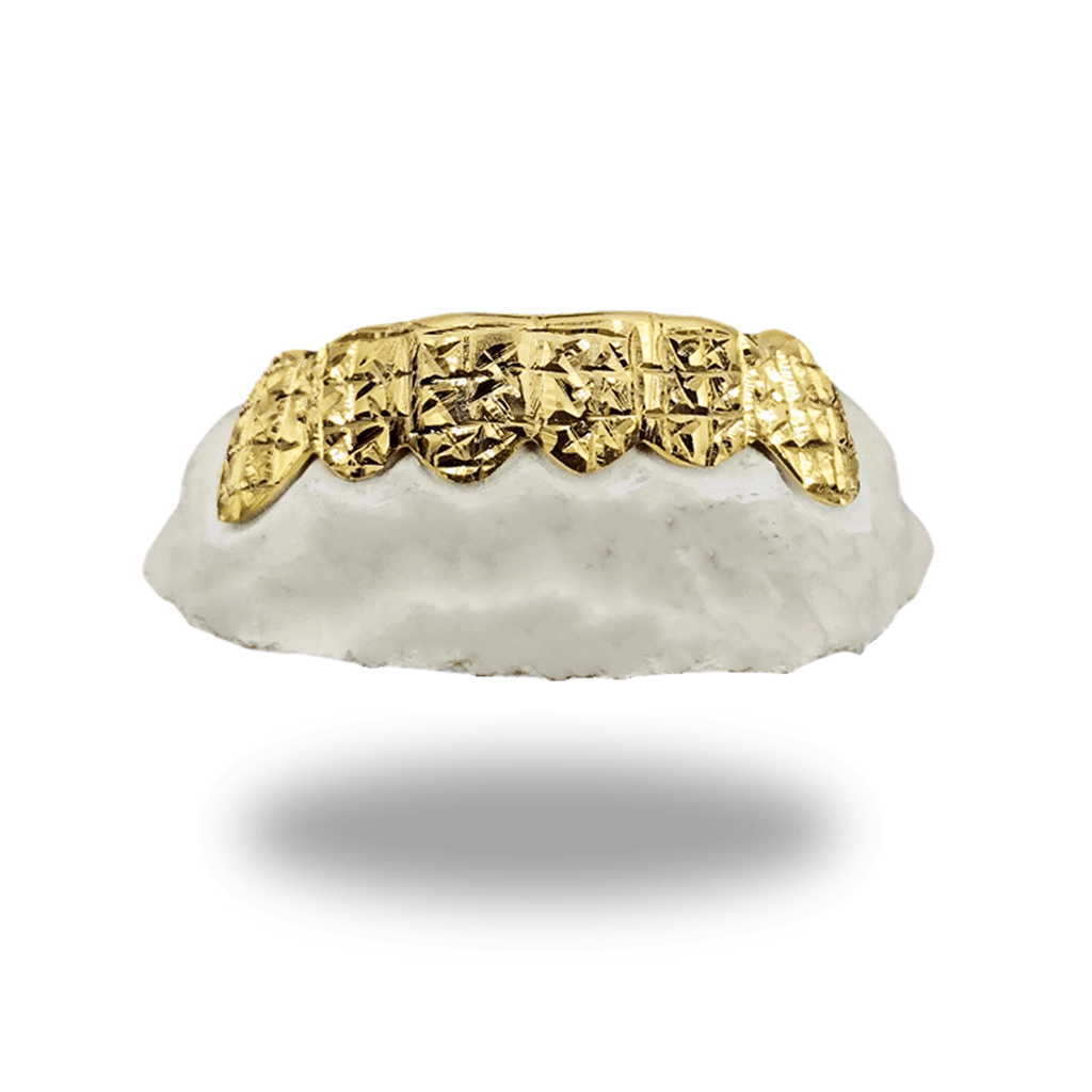 (Custom) Princess Cut Gold Grillz
