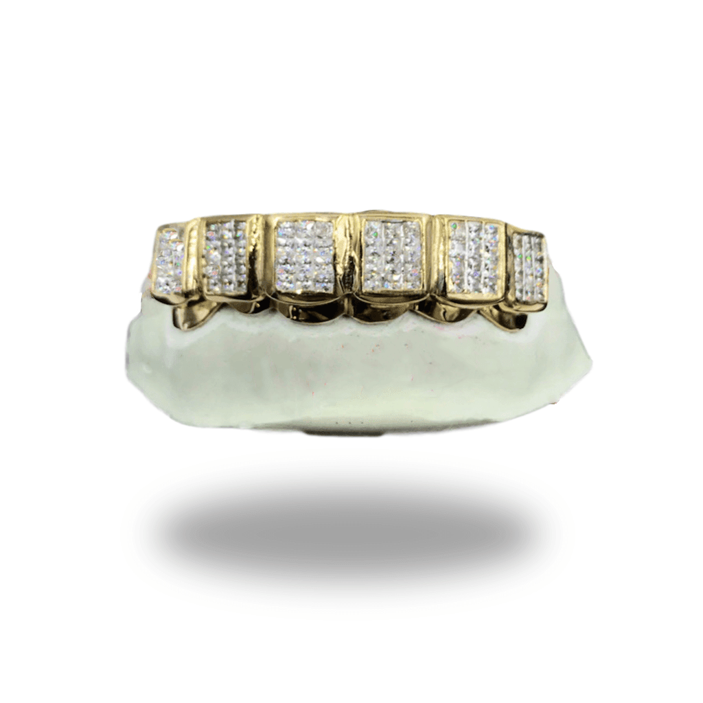 (Custom) Princess Cut Lab Diamond Block Grillz - Industry Pieces