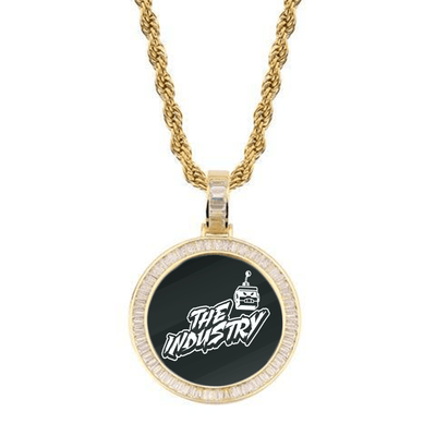 Gold / Rope Chain / 18inch New 🔥 Custom Photo Pendant + Necklace (LD Frame) - Industry Pieces