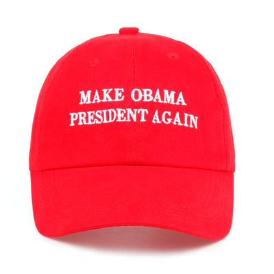 MAKE OBAMA PRESIDENT AGAIN DAD HAT - BLACK/RED