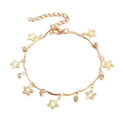Crystal Star Anklets - 3pcs