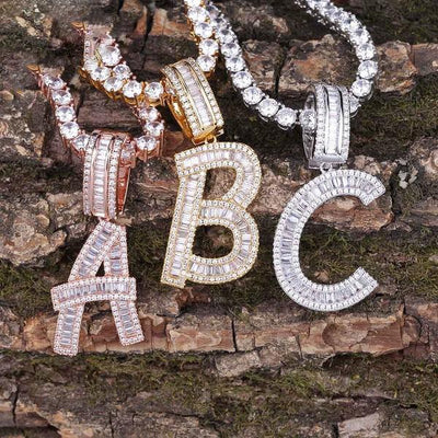 Lab Diamond Letter A-Z Custom Name Pendant