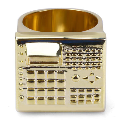 7 / Gold The Beat Machine Ring - Gold/Silver - Industry Pieces