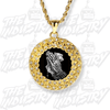 CZ Curved Frame Custom Photo Pendant