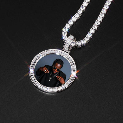 Gold / Tennis Chain / 18inch New 🔥 Custom Photo Pendant + Necklace (LD Frame) - Industry Pieces