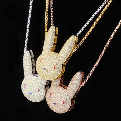 Bad Bunny Pendant + Necklace