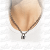 Padlock Pendant Necklace/Choker