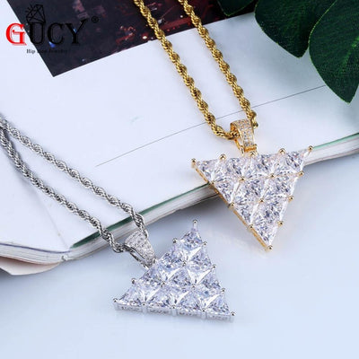 Inverted Triangle Pendant Necklace