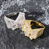 Lab Diamond Butterfly Ring