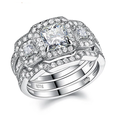 3 Piece Engagement Ring Set