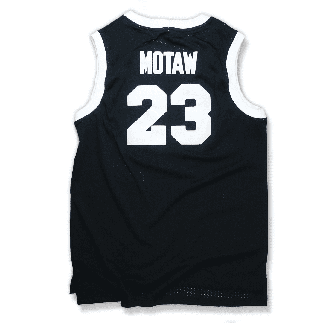 XL L 2XL Above The Rim #23 Motaw Shoot Out Black Basketball Jersey S M