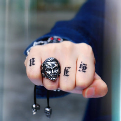 Joker Face Ring