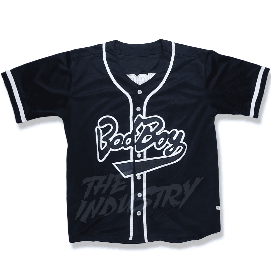 Bad Boy - Biggie #10 Baseball Jersey - Black Or White