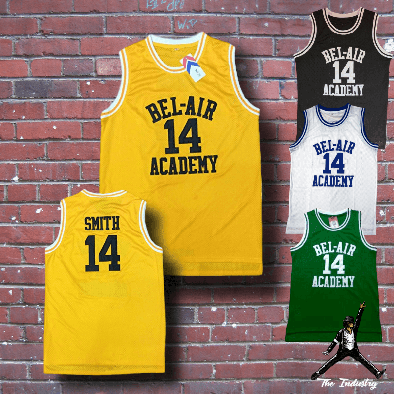 Basketball Jerseys #14 The Fresh Prince of Bel-Air Academy Will Smith Black Vest
