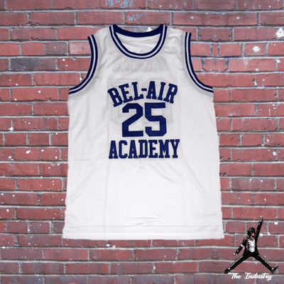 White / S Carlton - The Fresh Prince of Bel-Air - #25 Bel-Air Academy Basketball Jersey - Industry Pieces