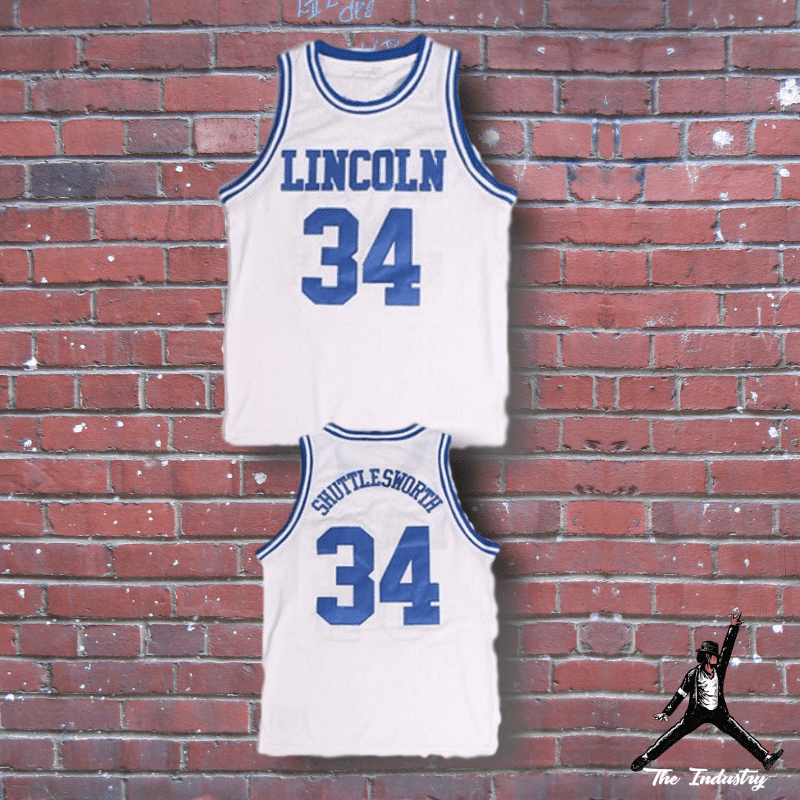 c03ef52977df He Got Game - Jesus Shuttlesworth  34 Basketball Jersey - Blue And White