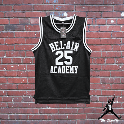 Black / S Carlton - The Fresh Prince of Bel-Air - #25 Bel-Air Academy Basketball Jersey - Industry Pieces