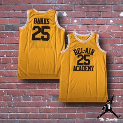 Yellow / S Carlton - The Fresh Prince of Bel-Air - #25 Bel-Air Academy Basketball Jersey - Industry Pieces