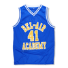 The Fresh Prince of Bel-Air - #41 Bel-Air Academy Basketball Jersey - BLUE #41 - Industry Pieces