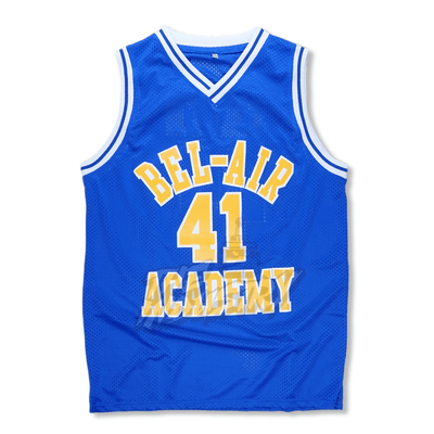 The Fresh Prince of Bel-Air - #41 Bel-Air Academy Basketball Jersey - BLUE #41