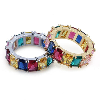 MultiColor Lab Diamond Eternity Ring