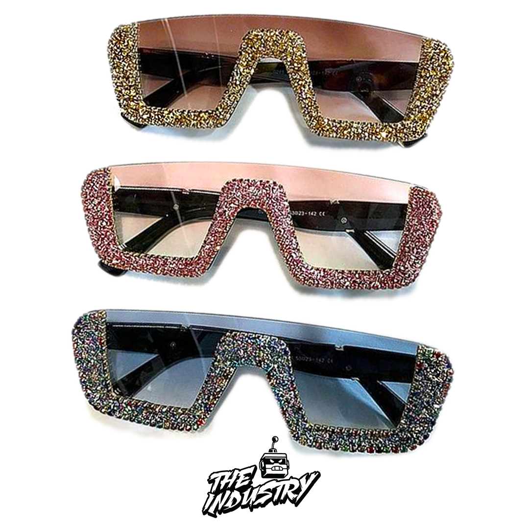 ❤️50% OFF ❤️ Womens Luxury Rhinestone Half Frame Sunglasses