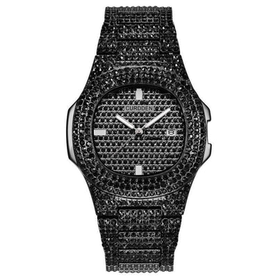 Black 🛍️ 💗 BUSSDOWN Iced Out Watch - Industry Pieces