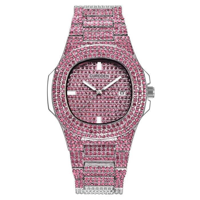 Pink 🛍️ 💗 BUSSDOWN Iced Out Watch - Industry Pieces