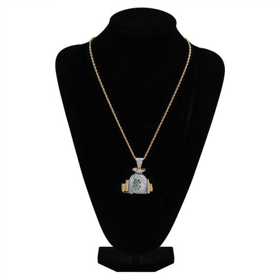 Money Bag Piece (Pendant & Free Rope Chain)
