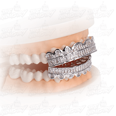 🔥 (Pre-Made) HQ Micro Pave Lab Diamond Grillz - Industry Pieces